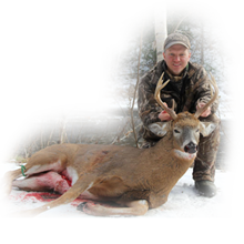 Whitetail buck bagged in 2015 at Taxis River Outfitters